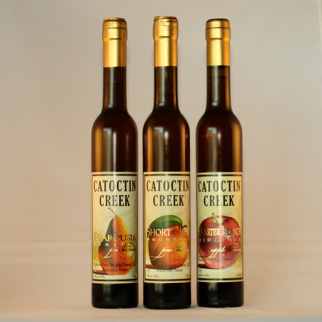 Catoctin Creek Fruit Brandies - Pear, Peach, Apple