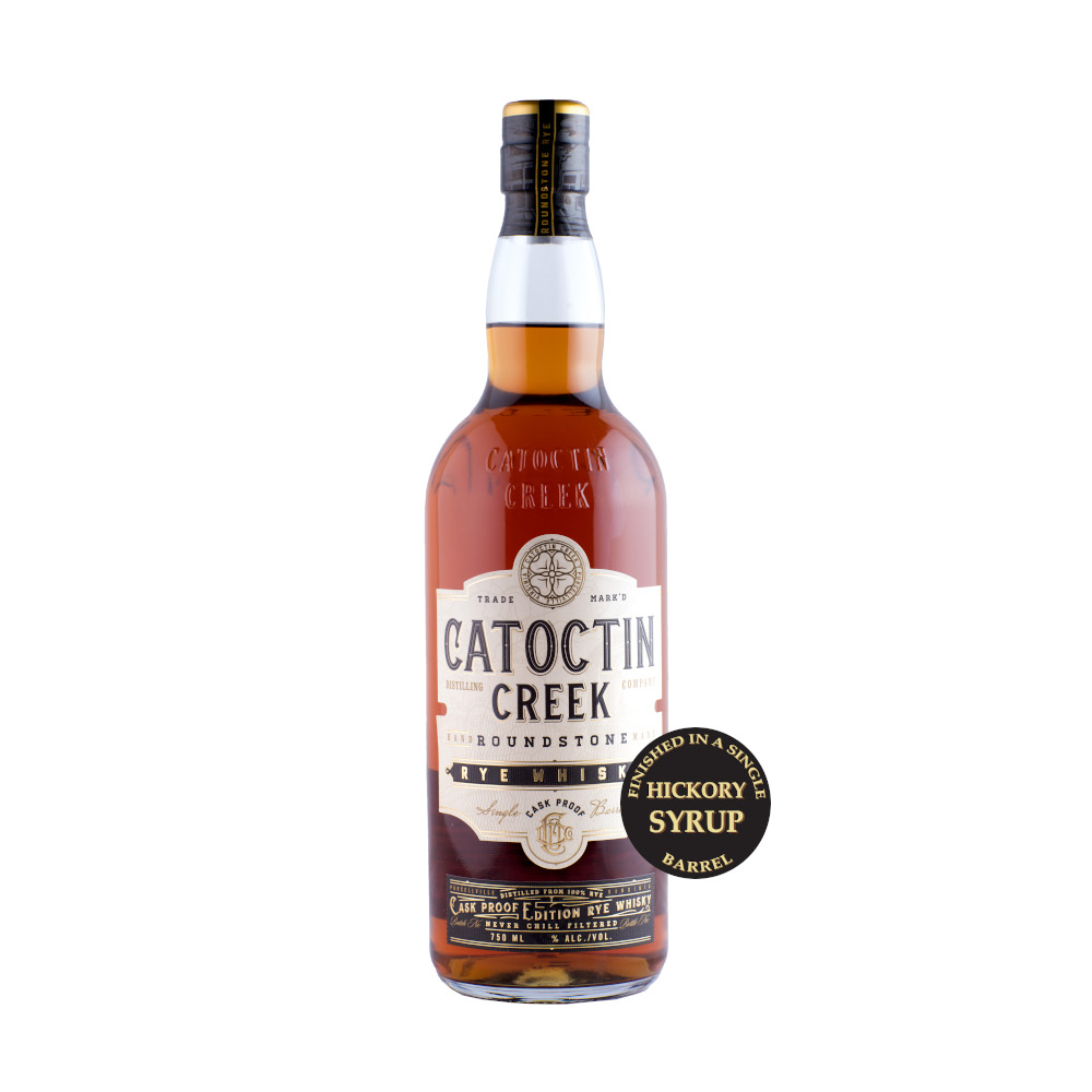 Catoctin Creek Roundstone Rye Cask Proof Hickory Finish